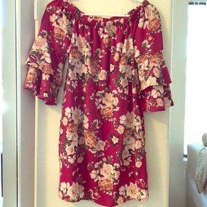 Xhilaration Magenta/Pink Floral Dress - Target